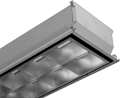 LED Tube Light Fixture, Recessed T Bar, for T8 4FT