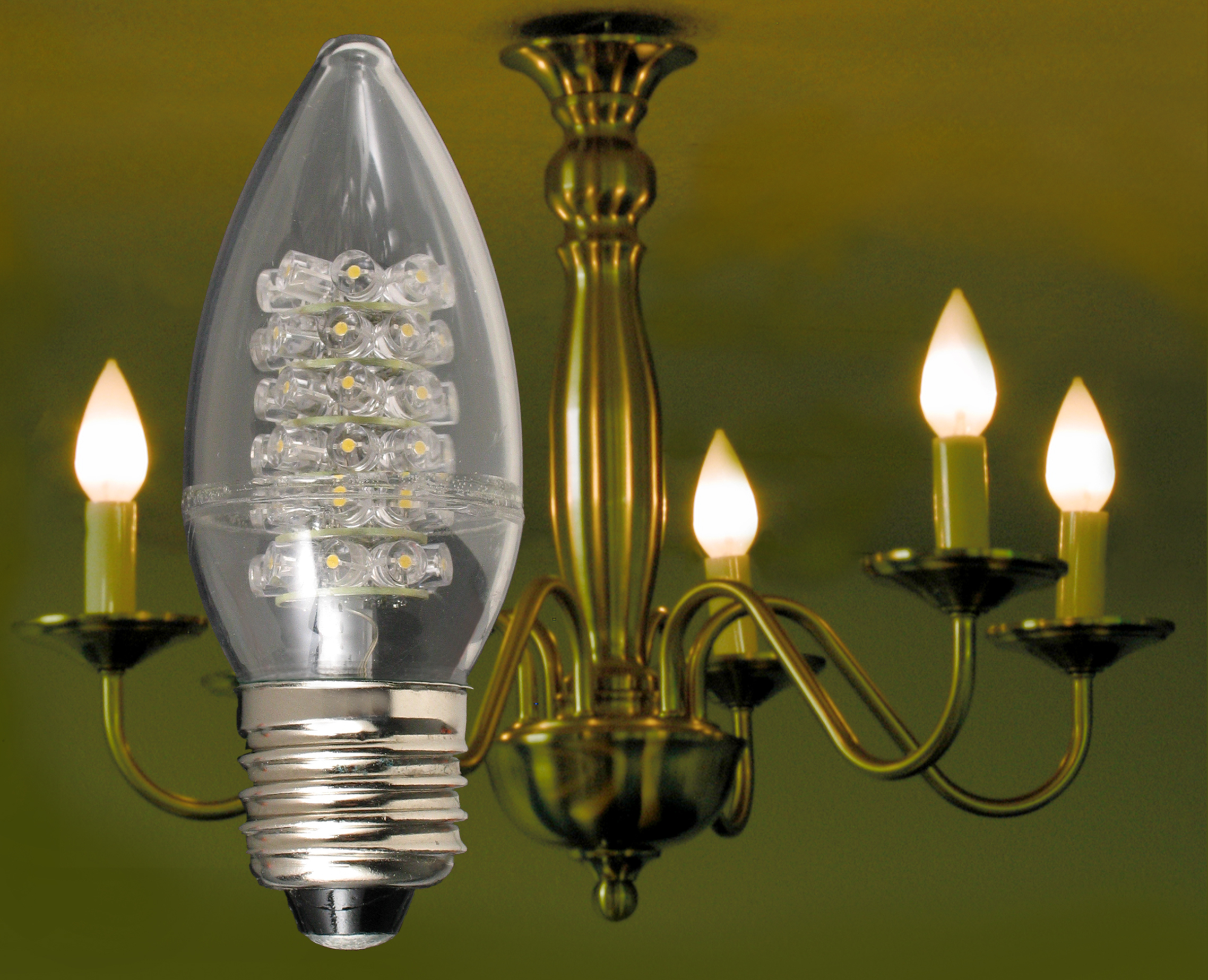 24 watt flame tip led chandelier bulb with standard 26mm edison view larger image arubaitofo Images
