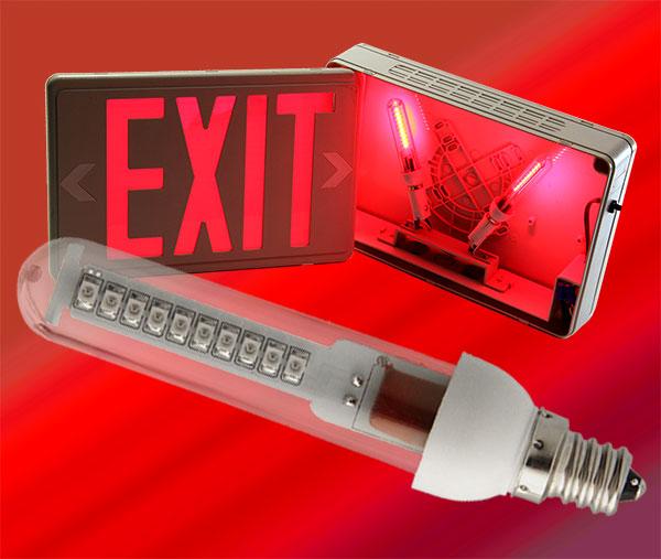 led exit bulb