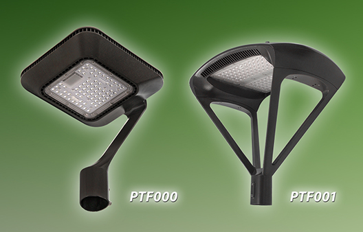 LEDtronics New Decorative LED Post Top Fixtures Bring Modern Design to Area Lighting
