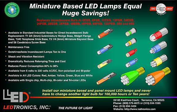 Miniature Based Led Lamps Equal Huge Savings