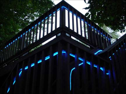 outdoor deck lighting wireless view larger image blue ropeled replaces neon for outdoor deck décor lighting