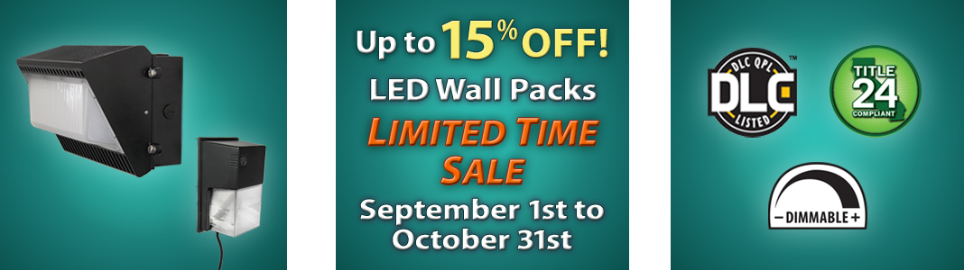 LIMITED TIME SALE: LED Wall Packs