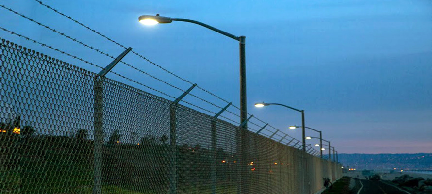 NRG Power Plant in Southern California lights their facility grounds with LEDtronics LED Streetlight