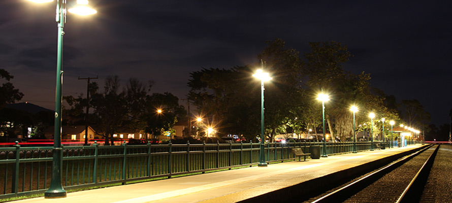 LEDtronics, Inc. LEDs in action at Amtrak Station, Carpinteria, CA