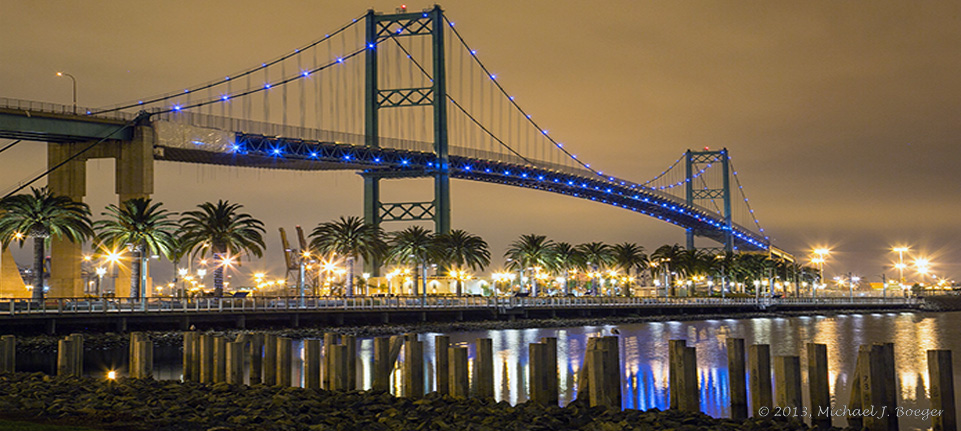LEDtronics, Inc. provides replacement lighting on the Vincent Thomas Bridge, Port of Los Angel