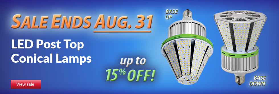 60-day sale: LED Post Top Conical Lamps