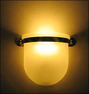 Led bulbs for wall sconces ledtronics 1708 sconce fixture is not included trf a19 e26 based bulb behind a wall light sconce fixture aloadofball Images