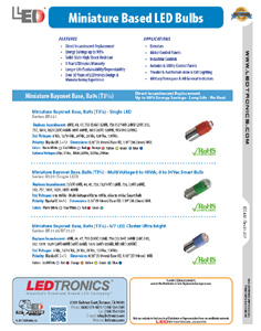 Miniature Based LED Bulbs